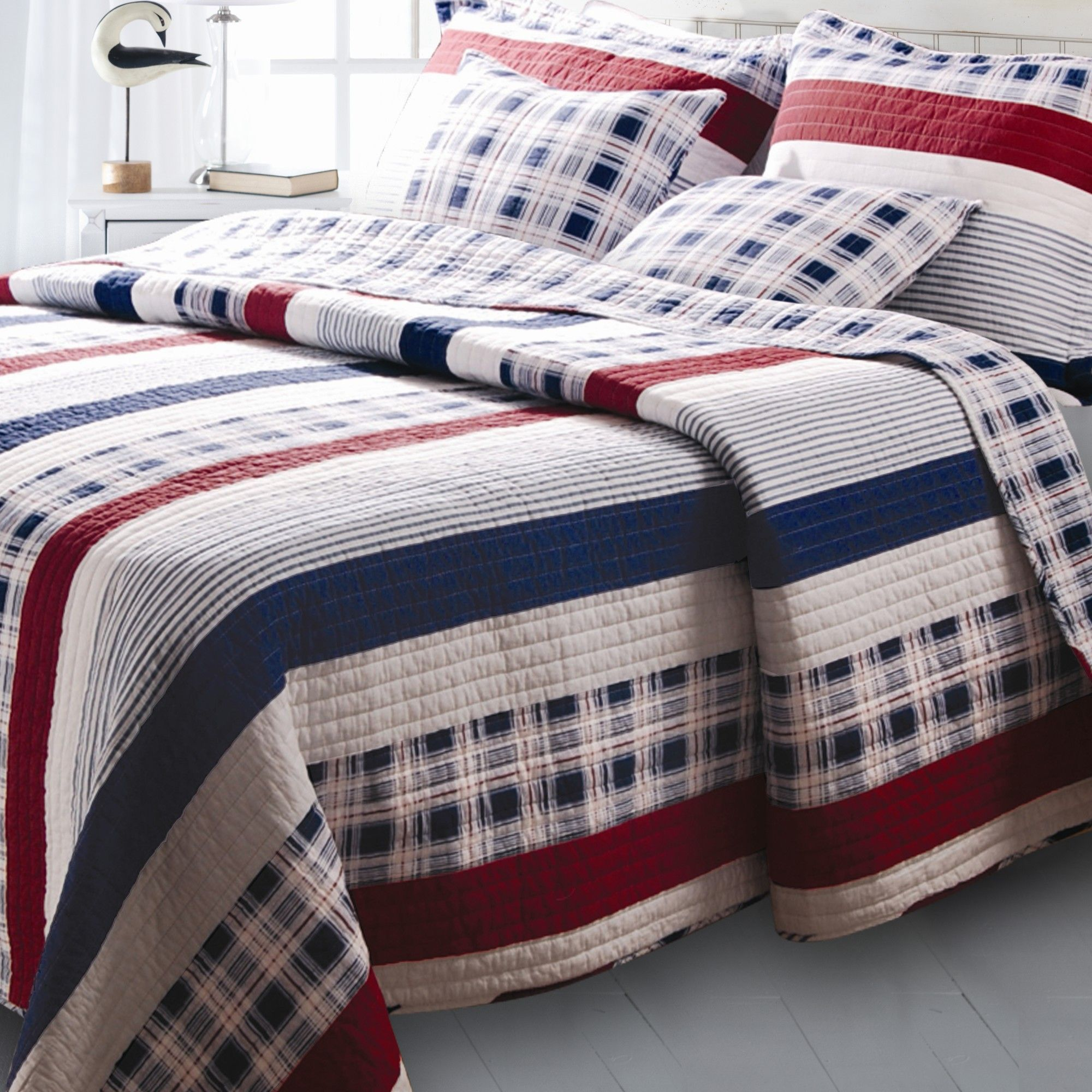 Nautical Stripe Bonus Quilt Set