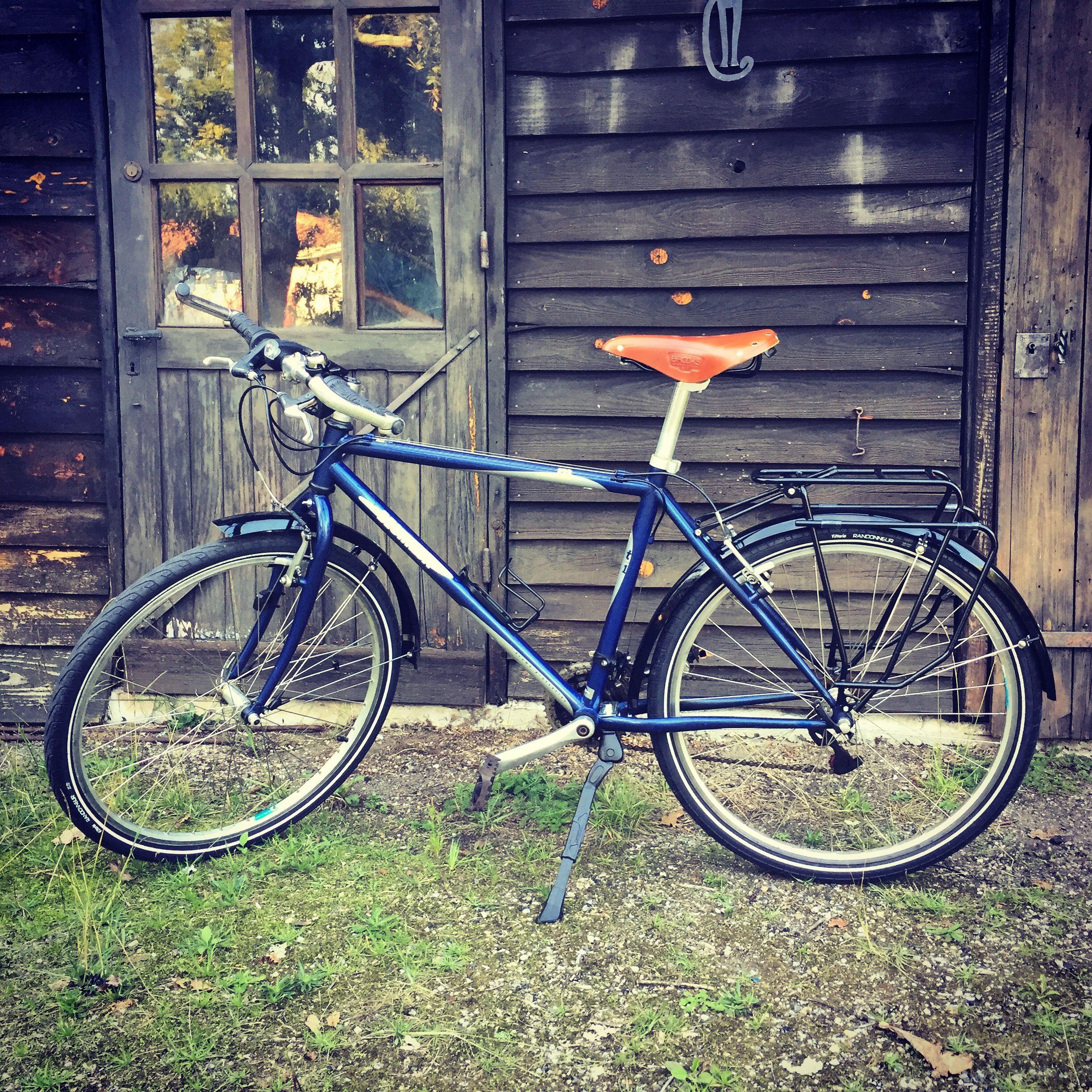 Mon Vieux Vtt Decathlon Des Annees 90 Transforme En Velo De Randonnee Bicycle Cyclotourisme Velorando Trekbikes Vtt Decathlon Velo Randonnee Vtt Vintage