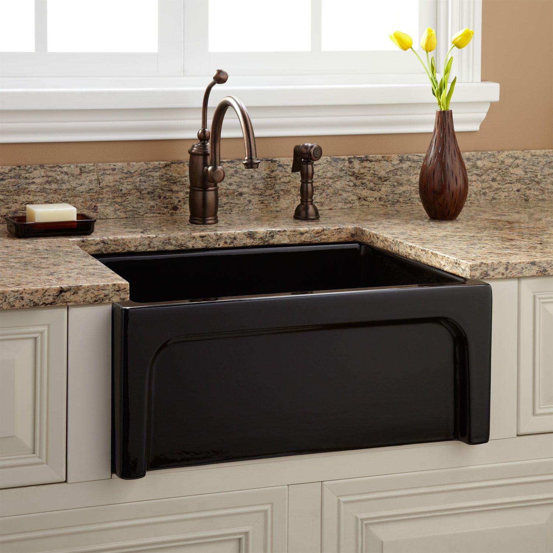 24 Risinger Reversible Fireclay Farmhouse Sink Casement Apron