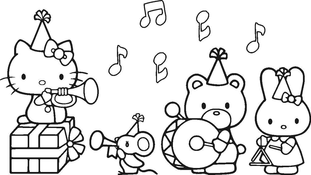 Pin Van Crisca Op Hello Kitty Coloring Pages Printables Hello Kitty Verjaardag Gratis Kleurplaten Hello Kitty
