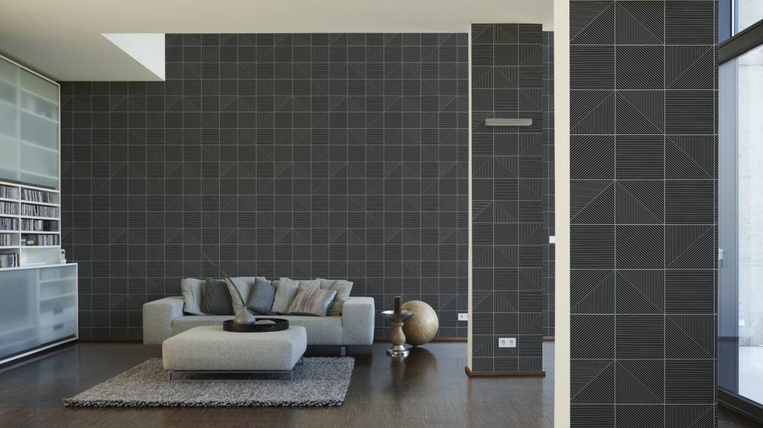 Werner Aisslinger Tapete 955823; simuliert auf der Wand tapeten - wohnzimmer tapeten braun beige