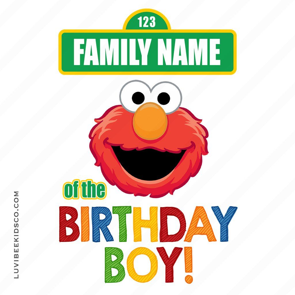 Sesame Street Iron On Birthday Shirt Design Elmo Add A