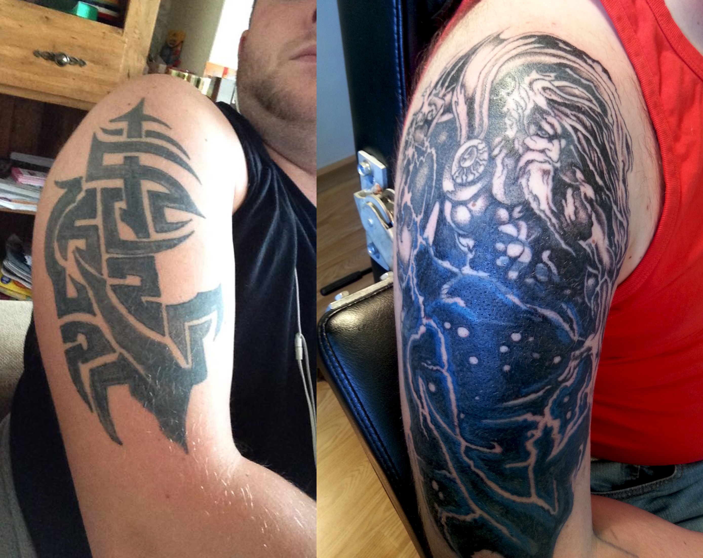 Tribal cover up tattoos killerink coverup blackandgrey for Tribal tattoos for cover up