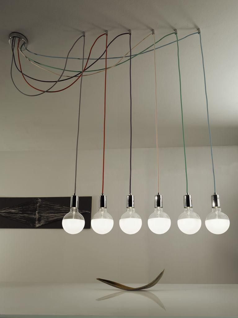 Handmade Cable Wire Bulb Chandelier Pendant Light Lamp Edison ...