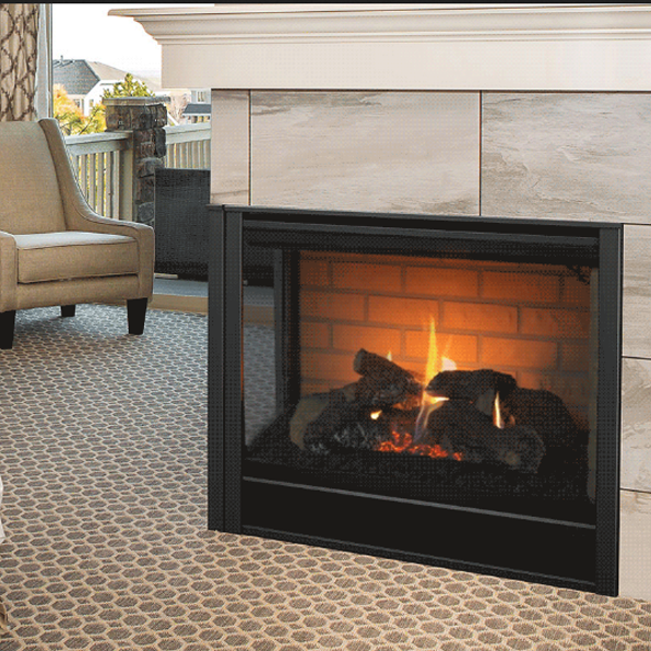 Majestic Corner Direct Vent Gas Fireplace L R Cor Dv36in In