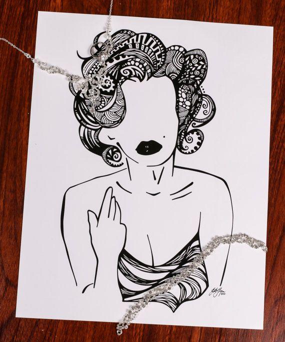 Zentangle MMonroe By DesignsByBlynn On Etsy