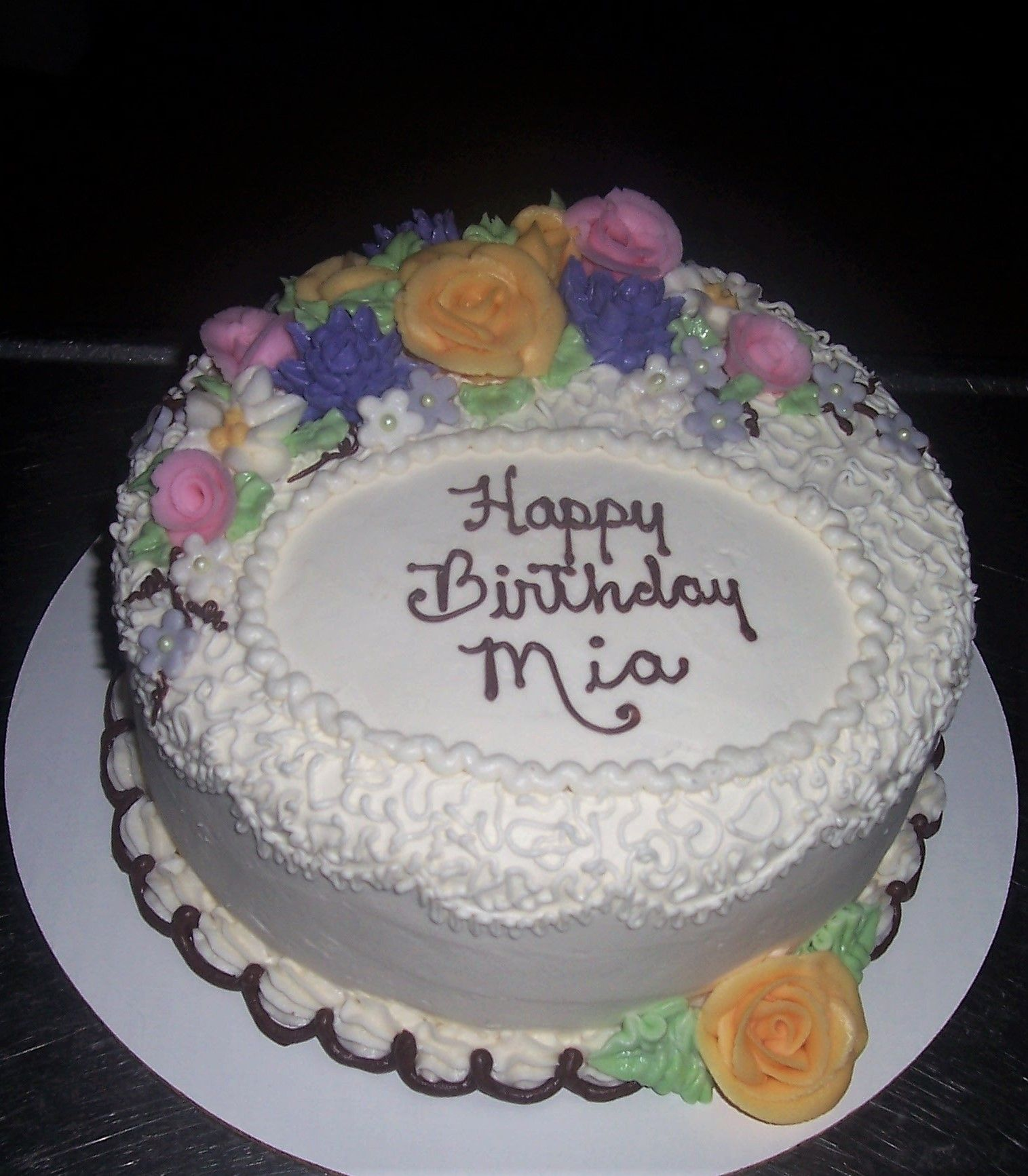 3 Layer Chocolate Cake With Vanilla Buttercream Buttercream
