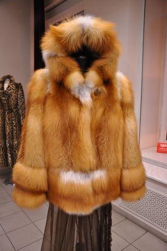 Red fox fur parka