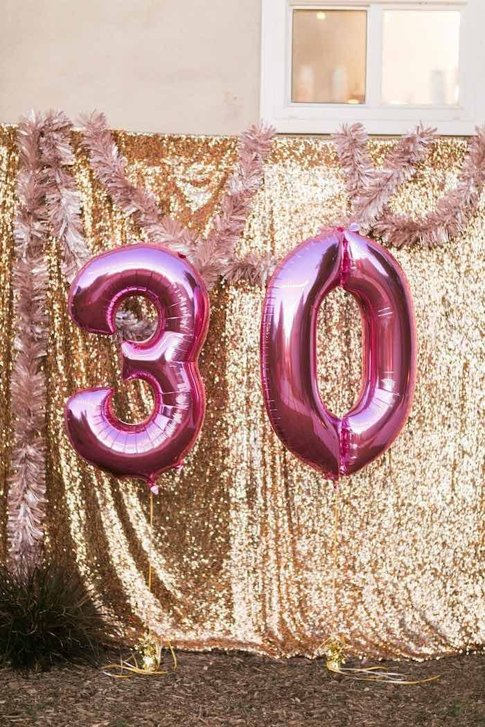 Sparkly 30th Birthday Bash 30th Birthday Decorations Glitter