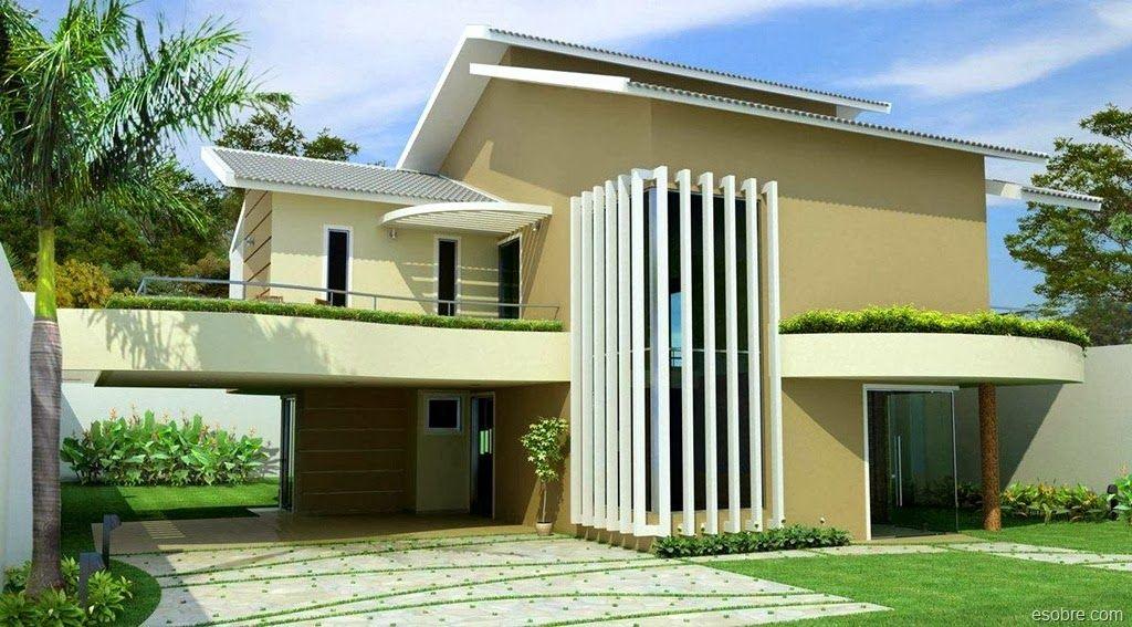 Fachadas de casas de sobrados veja 50 modelos lindos - Quiero disenar mi casa ...