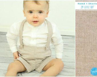 modernes Design hell im Glanz verkauft Taufanzug Baby Jungen Taufe blaue Hose weißes Leinenhemd ...