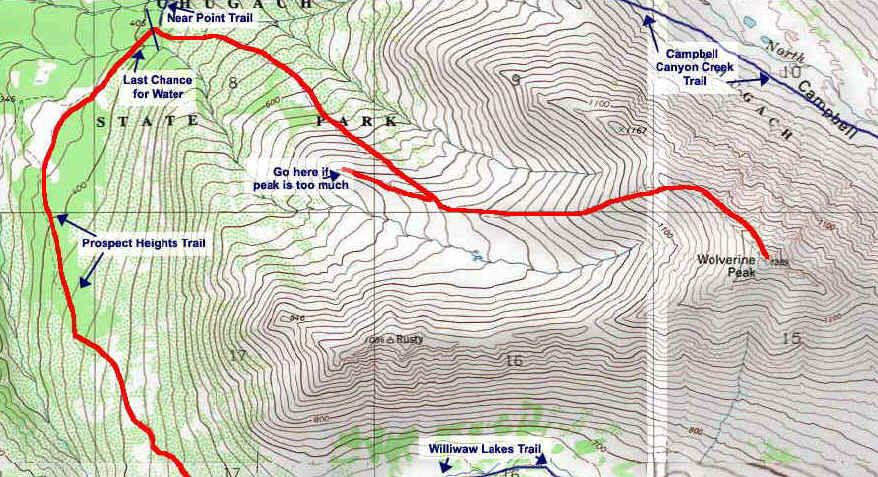 Wolverine Peak topo map | Hiking in Anchorage | Hiking, Day hike