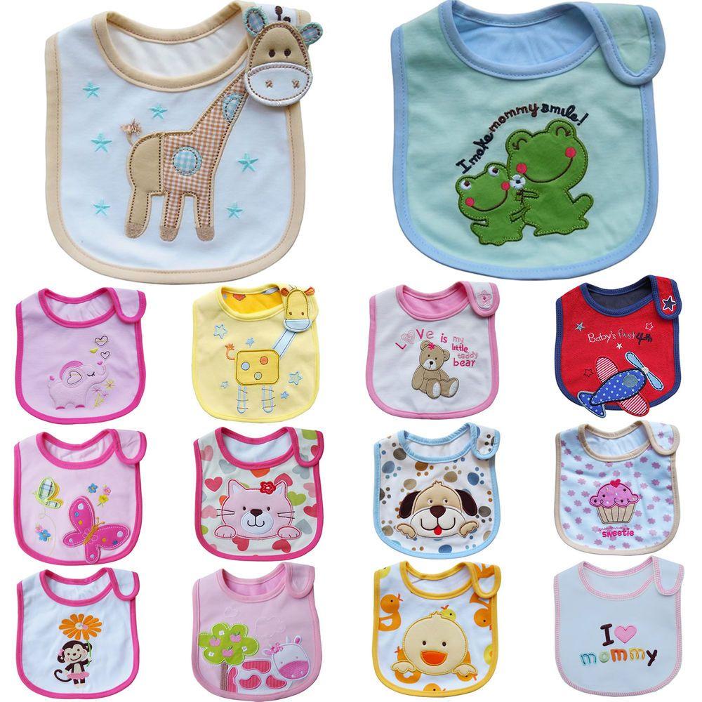 Newborn Infant Baby Boy Girl Cotton Bibs Saliva Towel Bib Feeding Bandana Charm