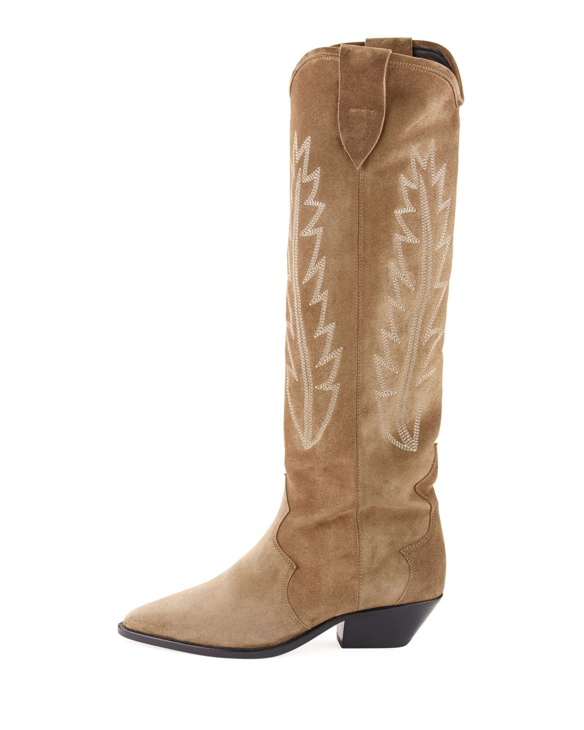 d5725300aec Isabel Marant Denzy Point-Toe Western Knee Boot