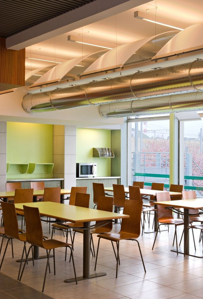 Crous university cafeteria clermont ferrand france by gay for Agencement interieur