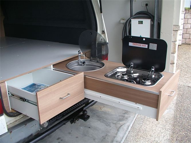 Camper van kitchen vanlife conversion by tiquis miquis for Camper van kitchen units