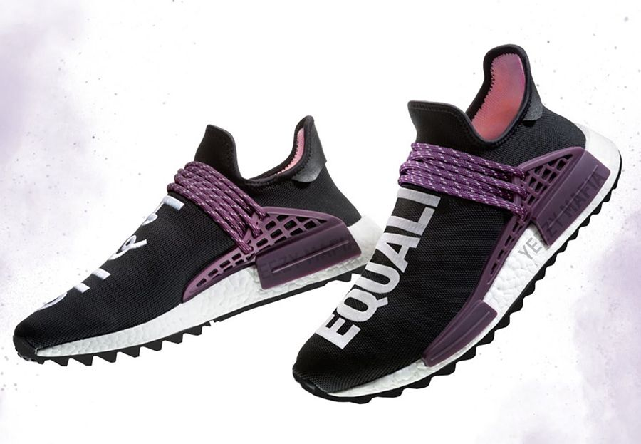 magasin d'usine fba30 e4341 Pharrell adidas NMD Hu Trail Blank Canvas Black Purple ...