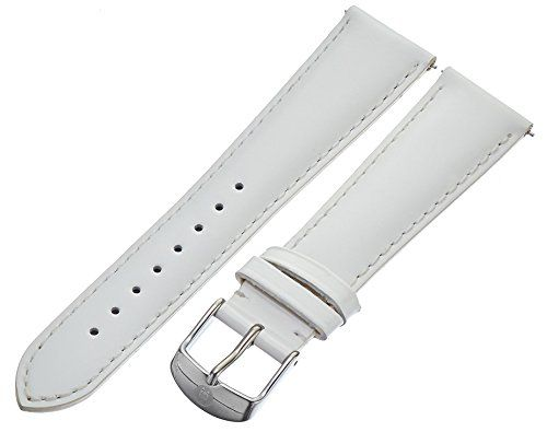 MICHELE MS20AB050100 20mm Patent-Leather White Watch Strap ** Read more reviews of the product by visiting the link on the image.
