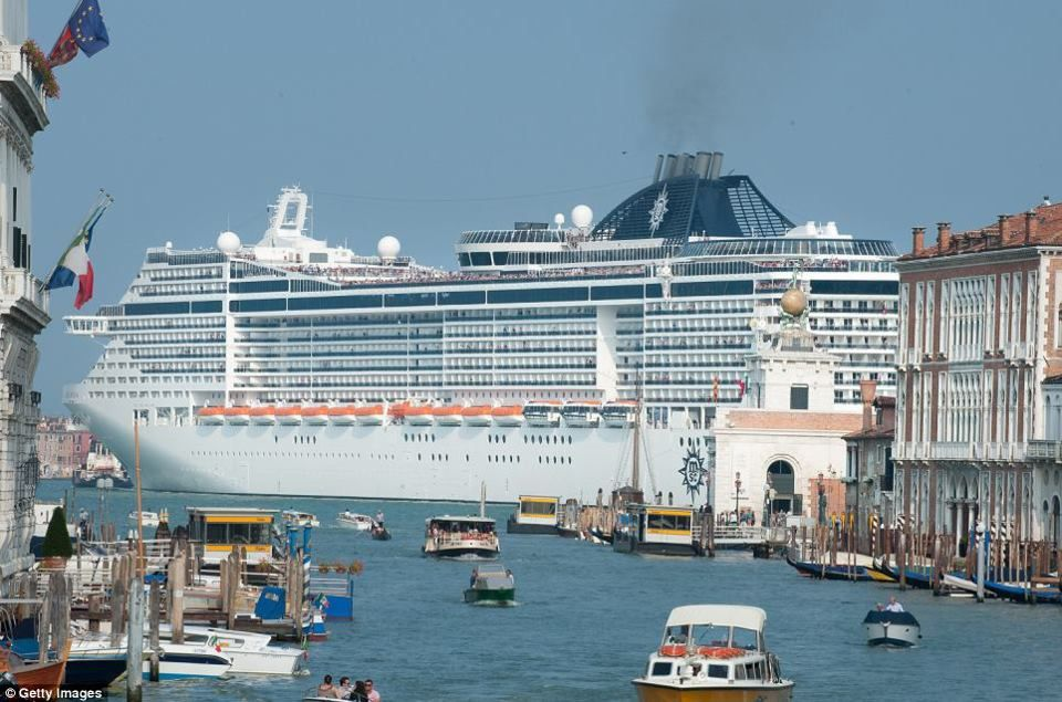 Monster Ship Thats The Menace Of Venice Furious Protesters Call - Cruise ships in venice port