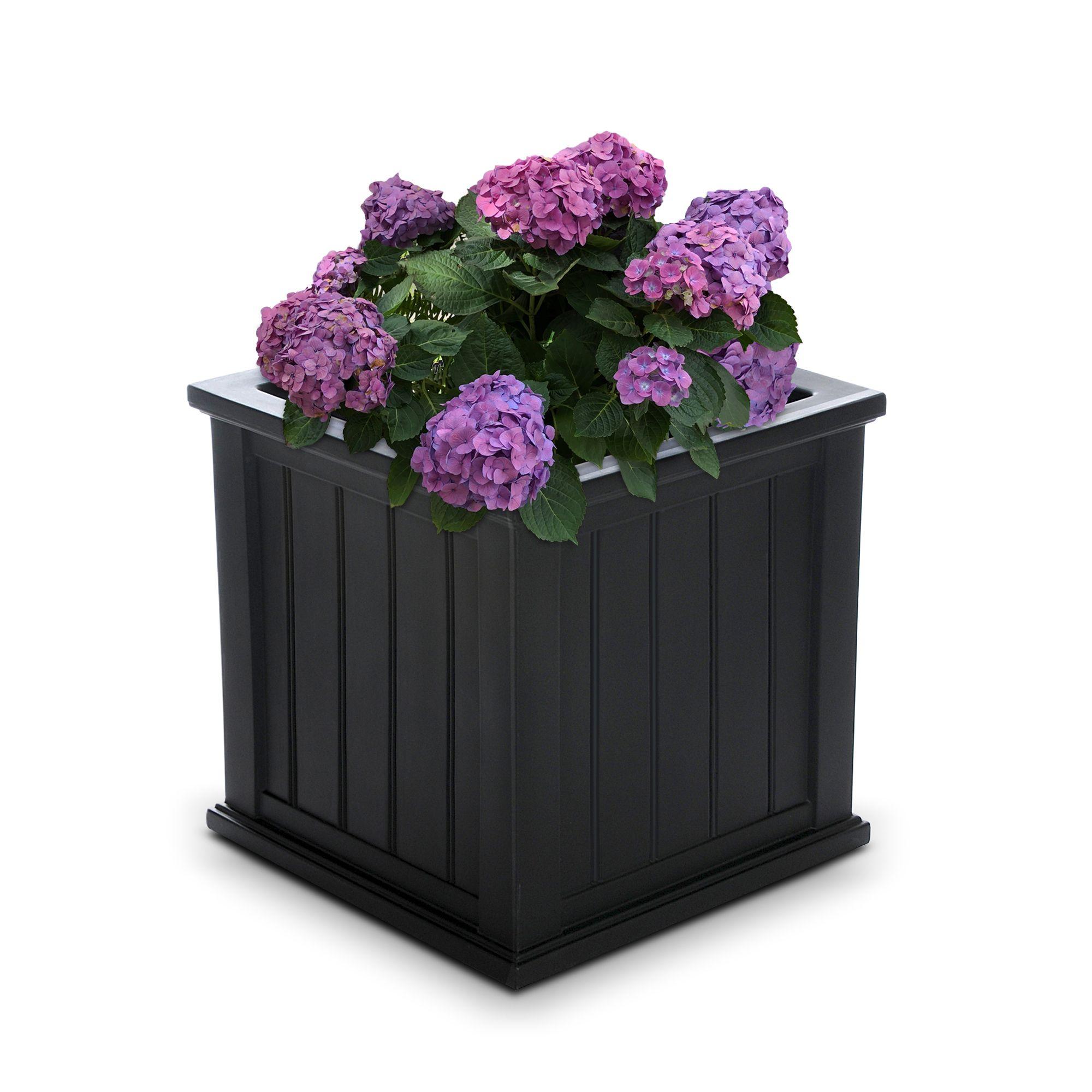 Cape cod patio planter 20x20 black in 2020