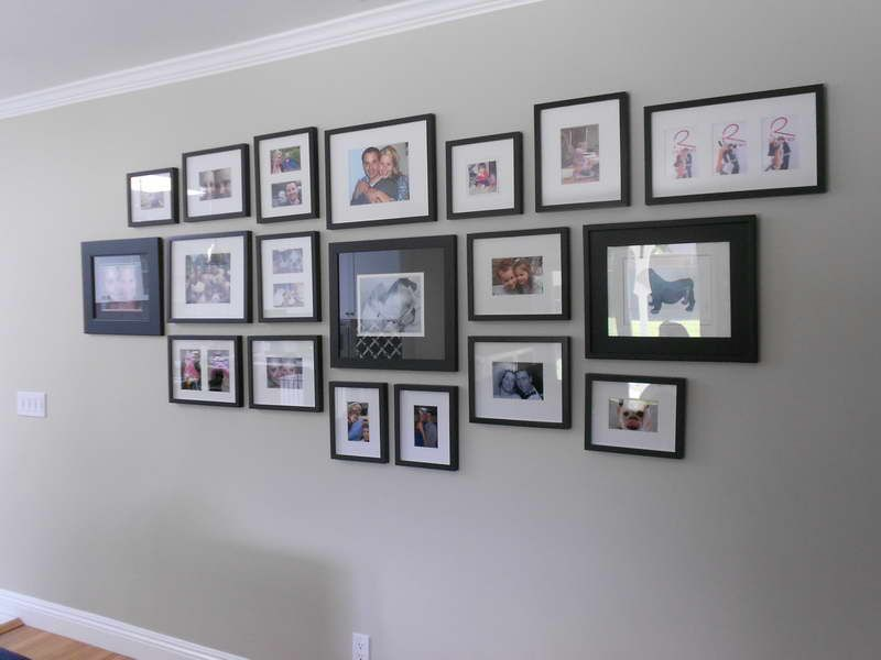 ideas wall photo frames design ideas with black