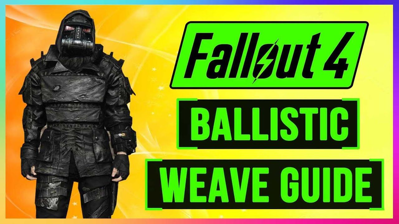 FALLOUT 4 How To Get BALLISTIC WEAVE Armor Mod Guide! FULL