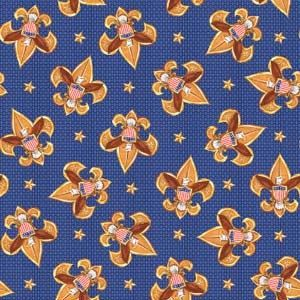 Boy scout cotton fabric new great for scouting for Boys cotton fabric