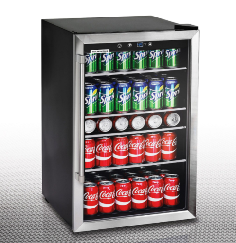 This Beverage Cooler Refrigerator Is A Free Standing Unit Use In The Kitchen To Free Up Space In Beverage Center Beverage Refrigerator Glass Door Refrigerator