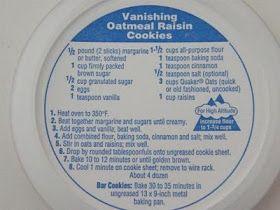 Cookiebaker S Corner Vanishing Oatmeal Raisin Cookies Comiditas