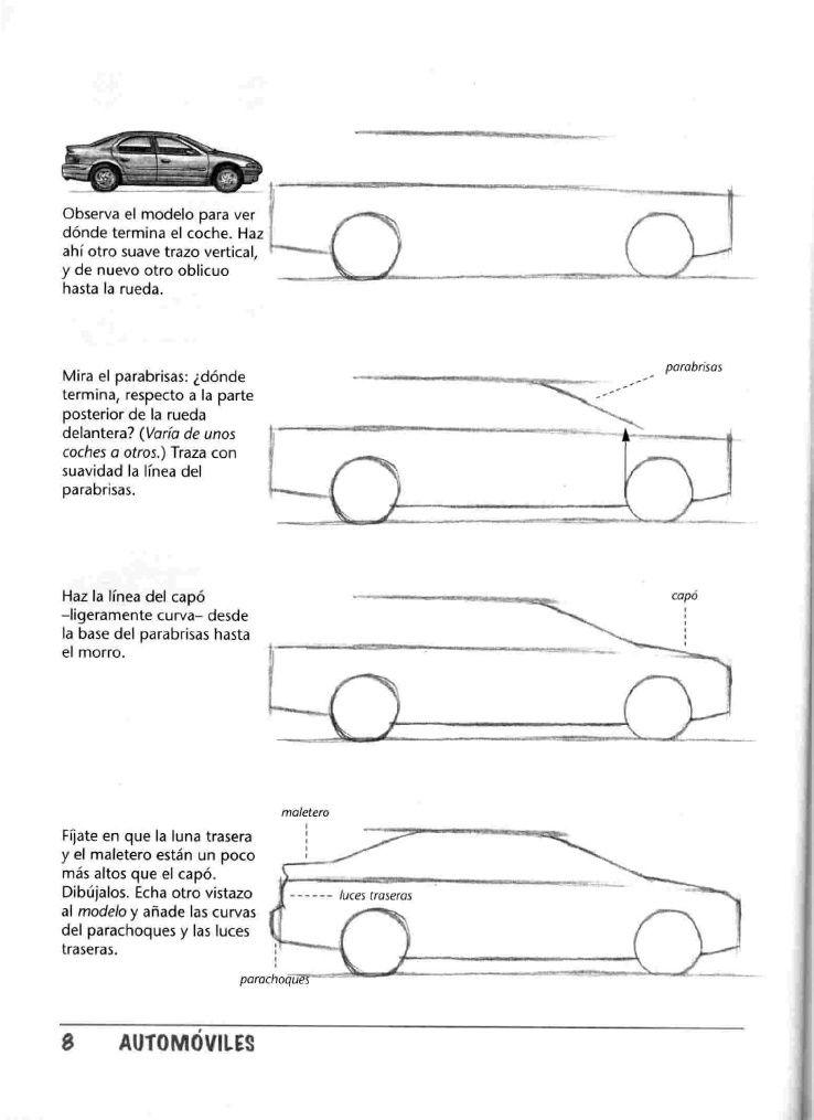 Pin De A T C En Cotxes I Altres A Motor Dibuixar Facil Pas A Pas