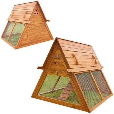 Portable Chicken Coop For 3 To 5 Hens U2013 Handcrafted Hen House Kit For Sale  U2013 Best Coop For Raising Chickens In Urban And Backyard Runs U2013 Our Mobile  Tractor ...