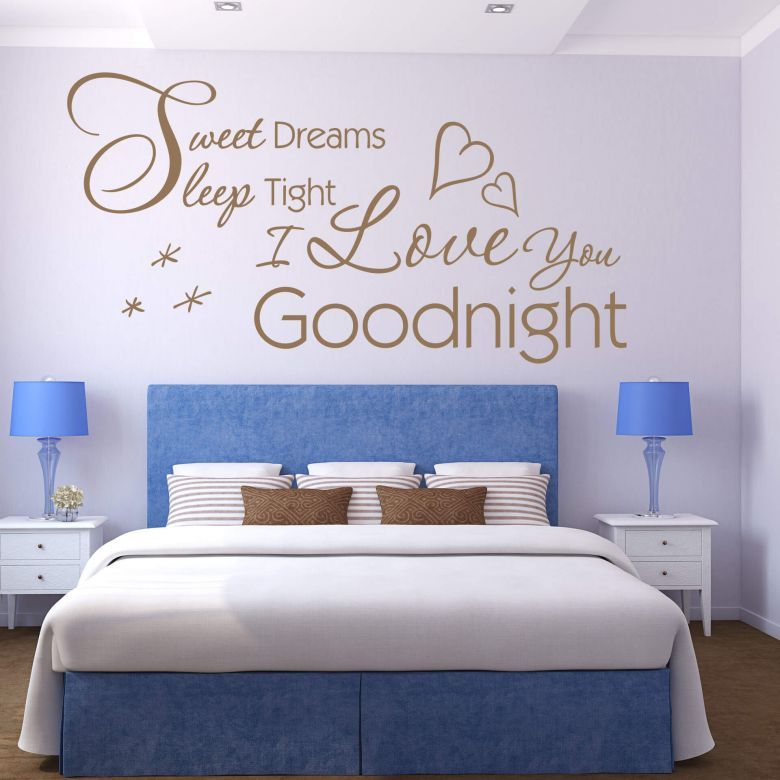 Sticker mural sweet dreams sleep wall art fr un proverbe poétique pour la chambre à coucher