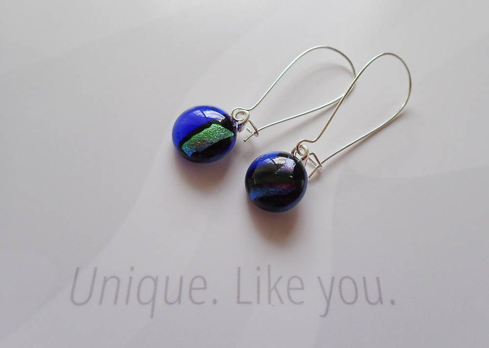 wholesale uk bright stud earrings jewellery blue resin