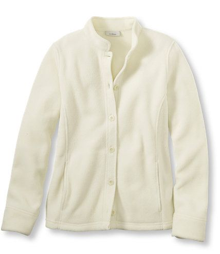 Size L Bean's Comfort Fleece, Button-Front Jacket: Fleece Tops and ...