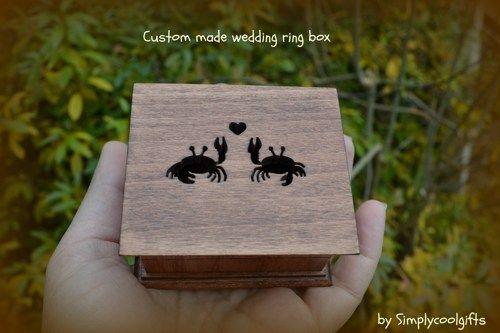 Wedding ring box ring box ring pillow box ring bearer box