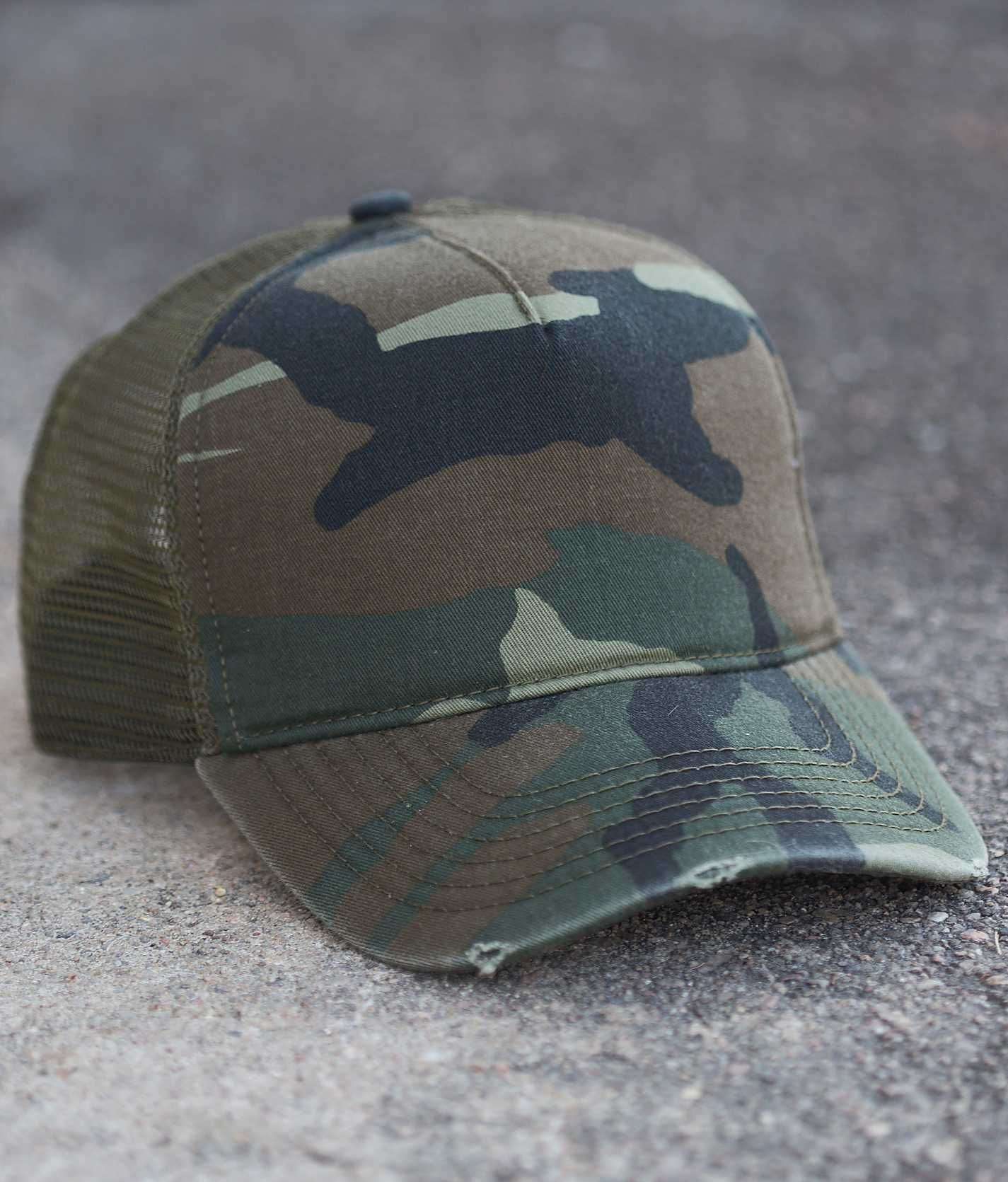 Olive   Pique Camo Trucker Hat - Women s Hats  d62c0205488