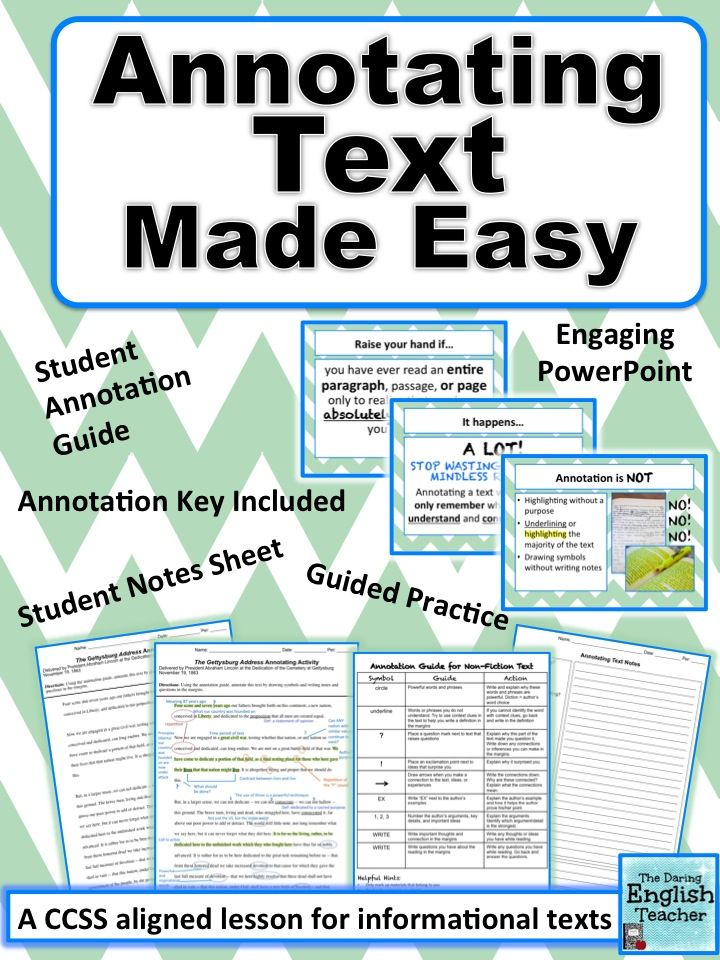 Annotating Made Easy (nonfiction) stepbystep annotation