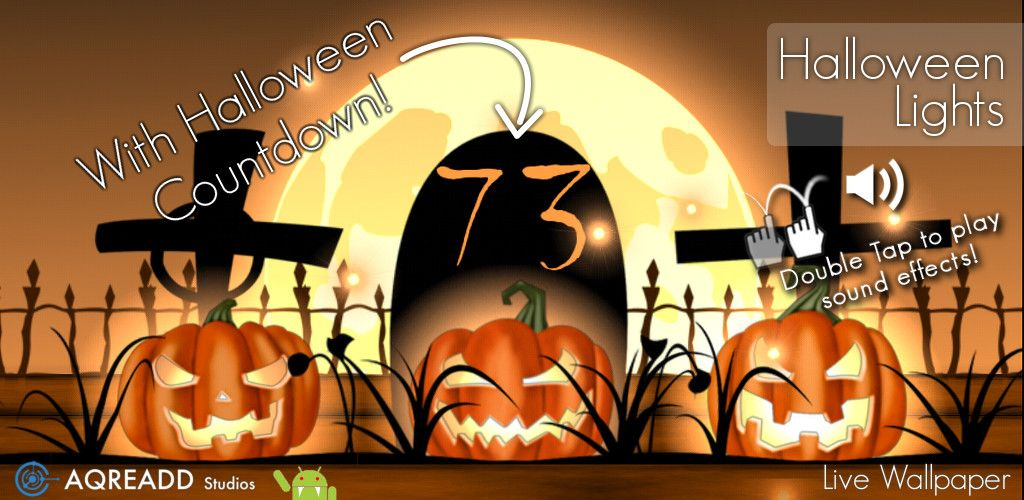 Halloween Live Wallpaper For Android With Countdown And Halloween