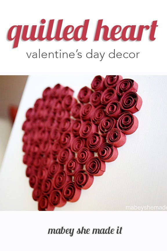 Photo of Quilled Heart Décor • Mabey She Made It