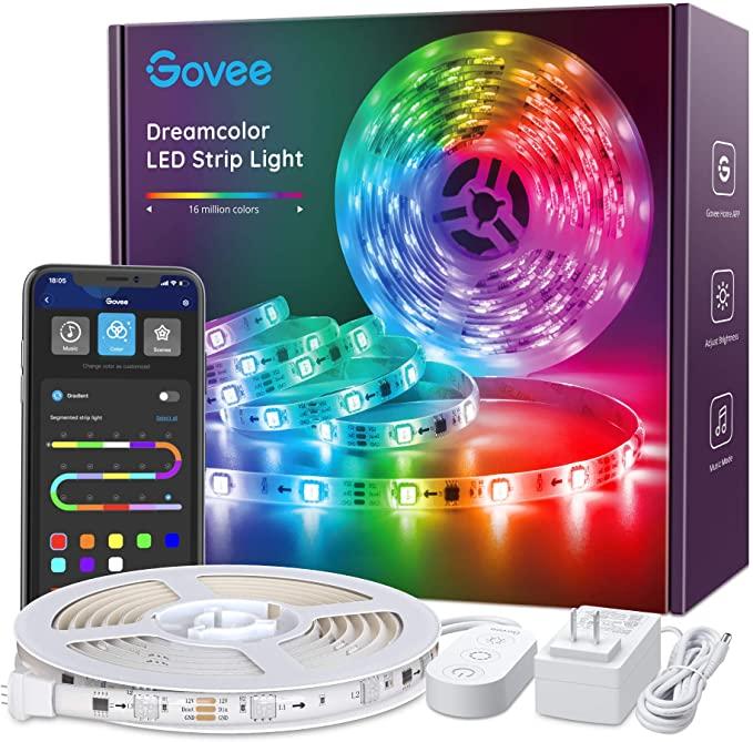 Amazon Com Led Strip Lights Rgbic Dreamcolor Govee App Control Bluetooth 16 4ft Multicolor Led Light Led Strip Lighting Strip Lighting Color Changing Lights