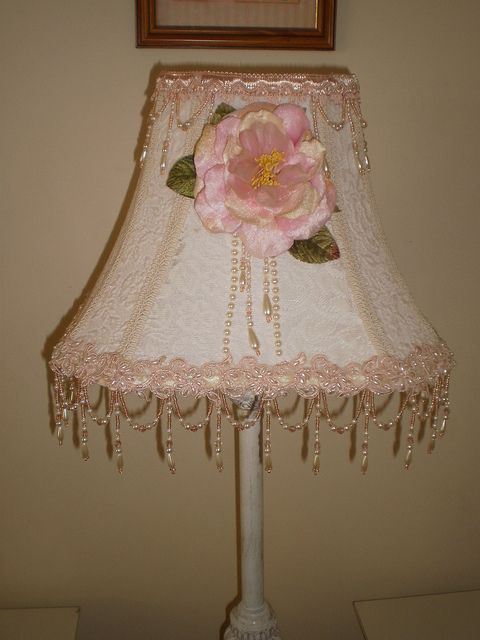 Shabby Chic Lamp With Images Shabby Chic Lamps Shabby Chic