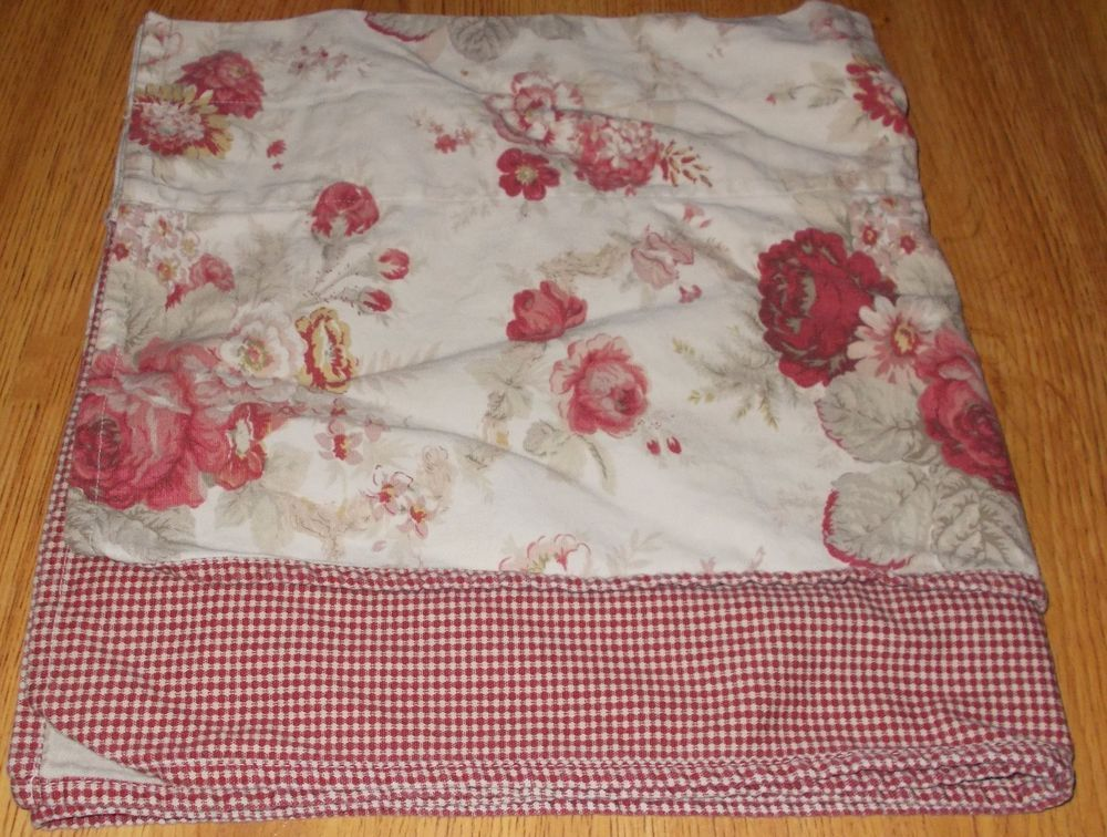Waverly Garden Room Vintage Norfolk Rose Gingham Valance Double Layered  Tiered #Waverly #Country