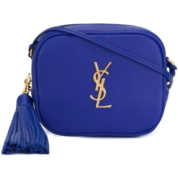 c42af72878 Saint Laurent Monogram Clutch found on Polyvore featuring bags, handbags,  clutches, royal blue, yves saint laurent purses, monogrammed crossbody, ...