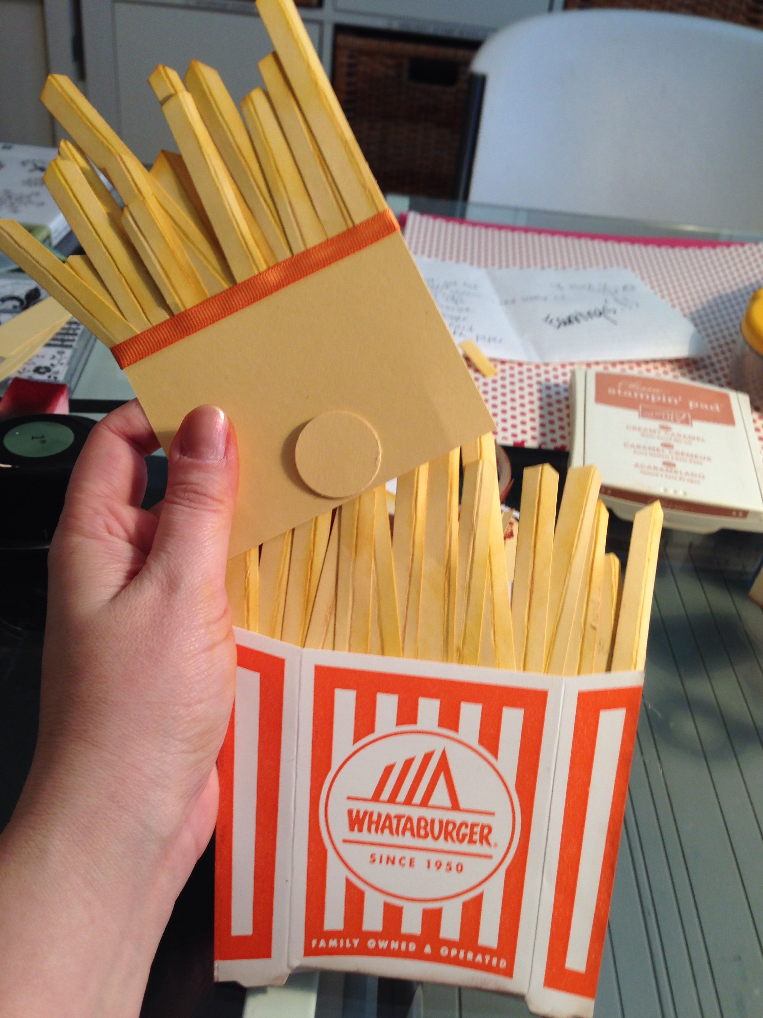 wedding gift card holders%0A Whataburger gift card holder  French fries
