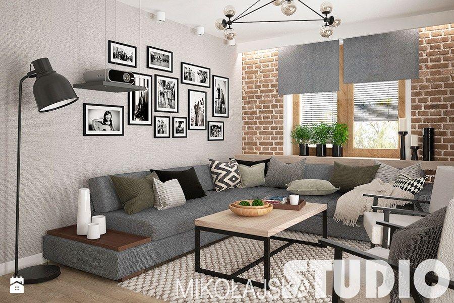Salon w stylu skandynawskim Salon zdjęcie od MIKOŁAJSKAstudio