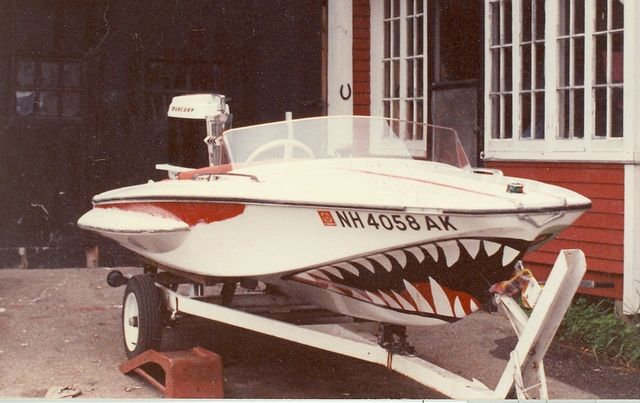 Sharkmouthpaintjobboat Sharkmouthtwojpg Lonestar - Vinyl stickers for rc boats