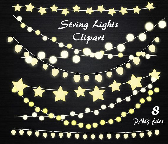 String Lights Clipart Captivating String Lights Clipart String Lights Clip Artpassionpngcreation Design Inspiration