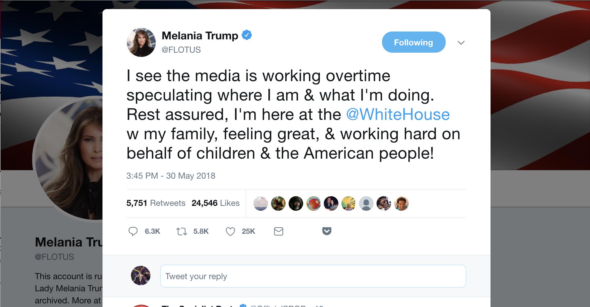 I Wonder Who Wrote That Melania Trump Tweet Huffpost Melania Trump Trump Tweets Trump