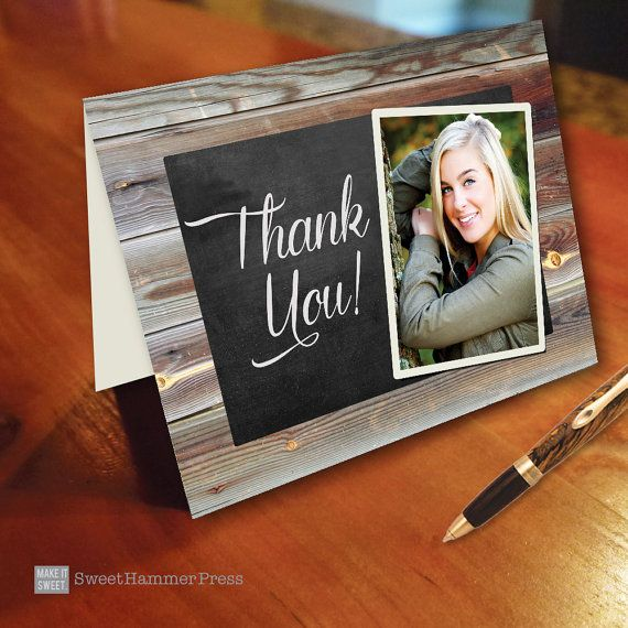 Graduation Thank You Notes Photo Thank You Cards with Photo Thank ...