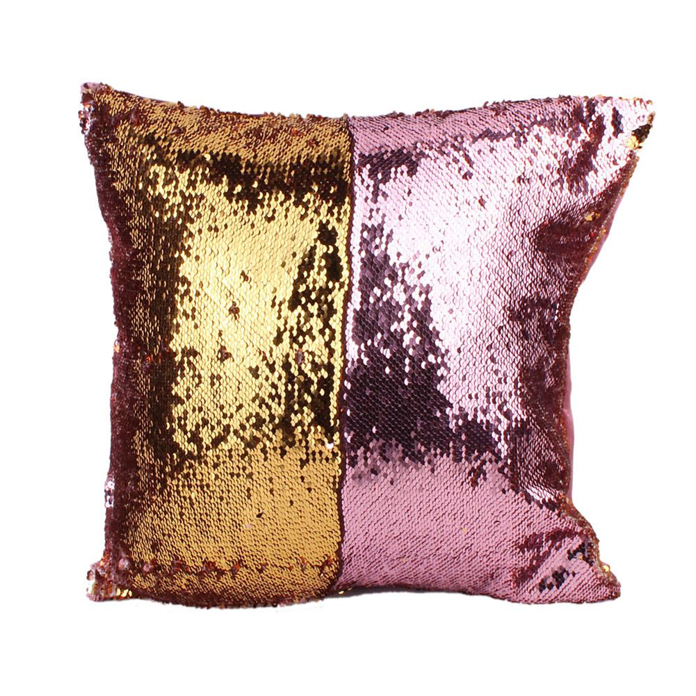 Chic writing double sequins set cotton pillow holder office